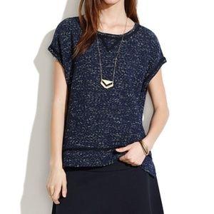 Madewell Nightsky Short-Sleeve Sweatshirt Large